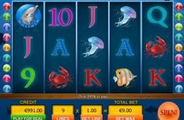 Una imagen de la tragaperras de casino Deep Blue