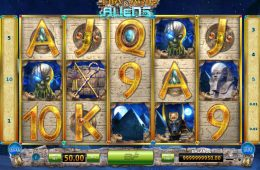Juego online gratis Pharaohs and Aliens