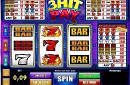 Máquina tragamonedas sin depósito 3 Hit Pay