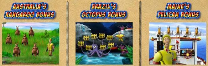 Mini juegos de bonificación de Lucky Larry's Lobstermania 2