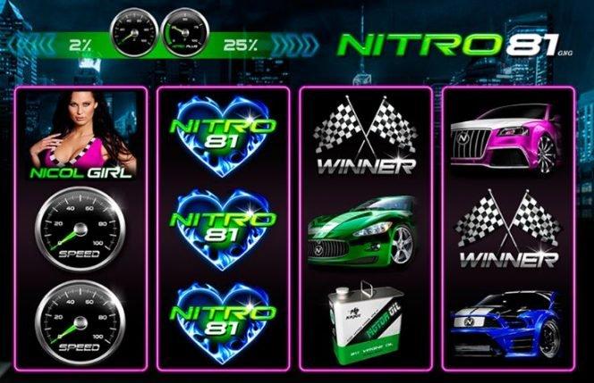 Imagen de la tragamonedas gratis Nitro 81