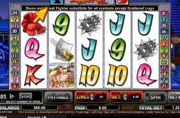 A Street Fighter II nyerőgépes casino játék képe