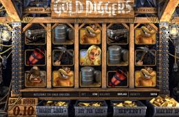 A Gold Diggers nyerőgépes casino játék képe