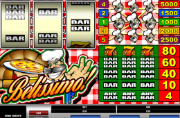 Kép a Belissimo nyerőgépes játékról