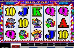 Kép a Big Top ingyenes online nyerőgépről