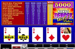 Kép a Donus Deuces Wild online kaszinó játékról