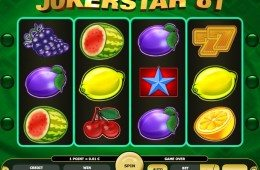 A Jokerstar 81 ingyenes online nyerőgép képe