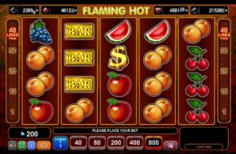 Nyerőgép szórakozáshoz Flaming Hot online