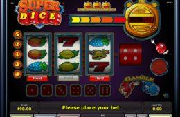 Casino online nyerőgépes játék SuperDice