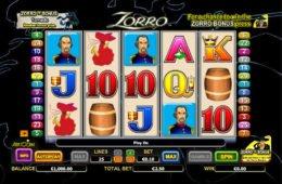 Játsszon az ingyenes online pénzbefizetés nélküli Zorro nyerőgéppel