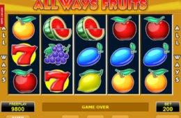 Letöltés nélküli All Ways Fruits pénzbefizetés nélkül