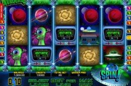 Ingyenes pénzbefizetés nélkül Invaders nyerőgépes játék