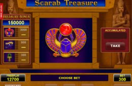 Ingyenes nyerőgépes játék Scarab Treasure online