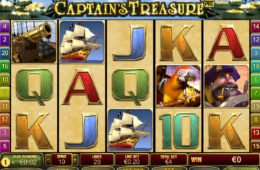 Captain's Treasure Pro nyerőgép a Playtech-től pénzbefizetés nélkül