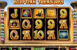 Casino nyerőgépes játék Egyptian Treasures