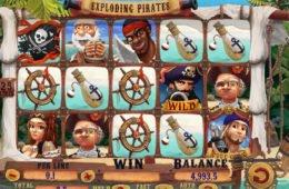 Játsszon az Exploding Pirates ingyenes nyerőgéppel