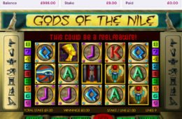 A Gods of the Nile online nyerőgép képe