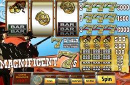 Magnificent 7s ingyenes online nyerőgépes kaszinó játék