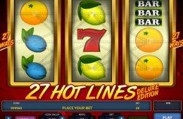 27 Hot Lines Deluxe Edition ingyenes casino nyerőgép