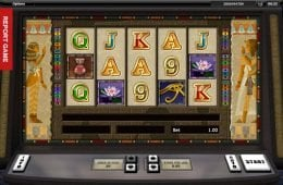 Kép az online casino Tutankhamun nyerőgépből