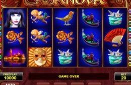 A Casanova online nyerőgépes játék képe