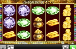 Pénzbefizetés nélkül is játszható Diamond and Gold nyerőgép