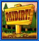 Scatter ikon a PayDirt ingyenes nyerőgépes játékból