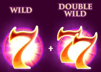 Wild és Double Wild ikon a 7 Sins nyerőgépből