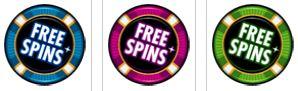 A Crazy Vegas online kaszinó játék ingyenes pörgetés ikonjai