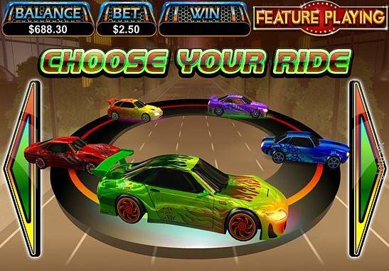 A Dream Run online casino nyerőgép minigame játéka