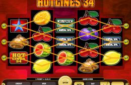 Wygląd darmowej gry slotowej online Hotlines 34