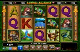 Zagraj na maszynie do gier online Amazing Amazonia za darmo