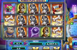 Kręć bębnami gry hazardowej Power Pups Heroes za darmo