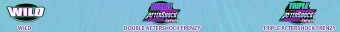 Specjalne symbole w grze online na automaty AfterShock Frenzy