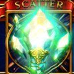 Symbol scatter w darmowej grze kasynowej na automaty Hero's Quest