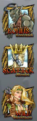 Symbole specjalne w darmowej grze online na automacie Legendlore