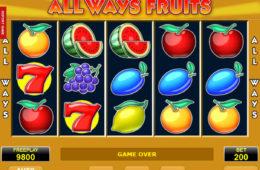 Joc de păcănele fără descărcare fără depunere All Ways Fruits