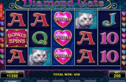Joc de păcănele online fără depunere Diamond Cats