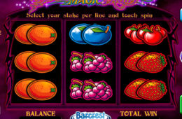 Joc cu aparate gratis online Black Magic Fruits