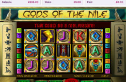 Joc de păcănele gratis Gods of the Nile