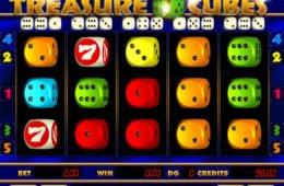 Joc de păcănele cazino cu învârtiri Treasure Cubes