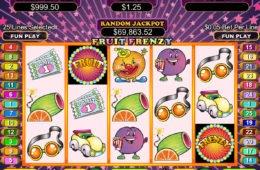 O imagine din joc de păcănele Fruit Frenzy