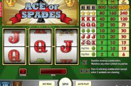 O imagine din joc ca la aparate Ace of Spades
