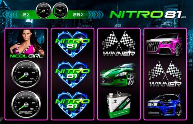 O imagine din jocul de păcănele gratis Nitro 81