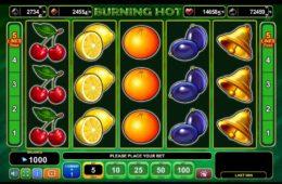 Игровой автомат Burning Hot играть онлайн бесплатно