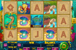 Скрин бесплатный онлайн игровой автомат Atlantic Treasures