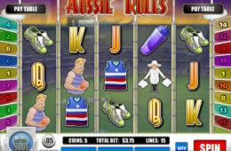 Играть на деньги в автомат Aussie Rules