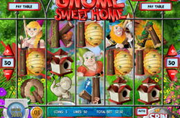Играть на деньги однорукий бандит Gnome Sweet Home