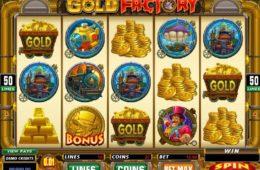 Бесплатный онлайн игровой автомат Gold Factory