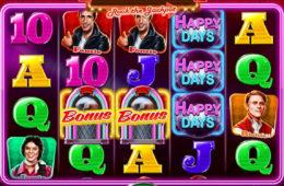 Бесплатный онлайн игровой автомат  Happy Days Rock the Jackpot